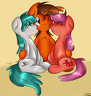 FreeFraQ -  Scroll Scribe Hugging Breezy and Maple - darnelgdottumblrdotcom